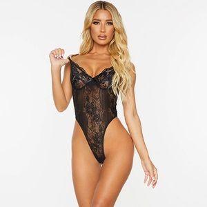 PLT Black Lace Bodysuit